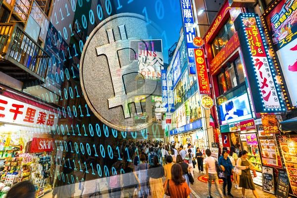 cryptocurrency crypto japan street bitcoin