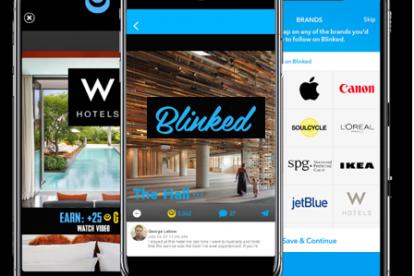 illustration of the blinked mobile app