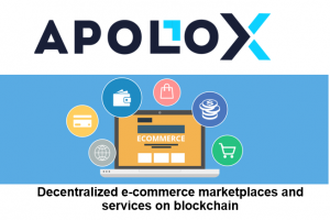 Illustration of a decentralized marketplace that is based on blockchain technology