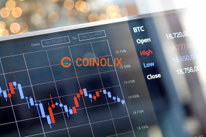 trading screen from crypto exchange with coinolix logo