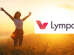 woman enjoying nature while working out with logo of the lympo company