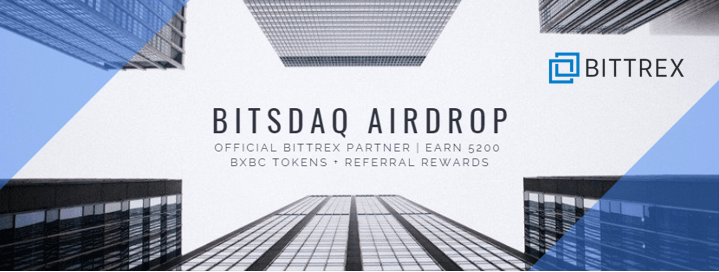 bitsdaq airdrop. The new bittrex-backed cryptocurrency exchange bitsdaq is currently doing an airdrop promotion to attract new users to the platform.